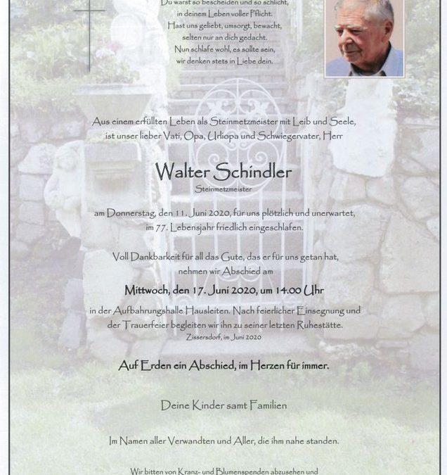 Walter Schindler